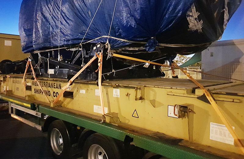 Grandes cargas industriales - Motor de avión
