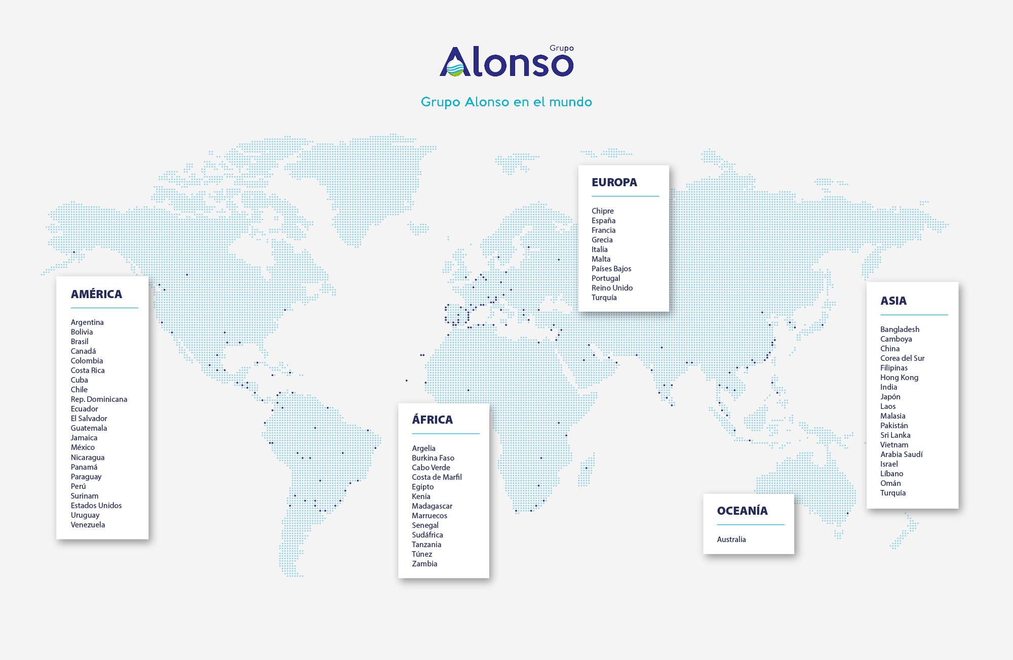 Mapamundi Grupo Alonso
